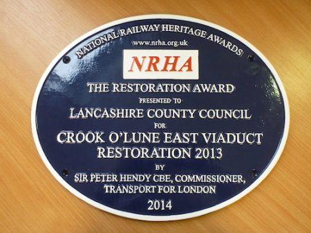 Crook O'Lune, National Railway Heritage Awards 2014