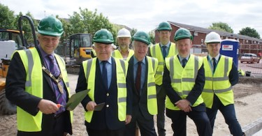 First bricks laid in Birchwood bungalow scheme