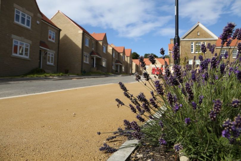 New Sheffield Homes Use Natratex For Matching Footpaths