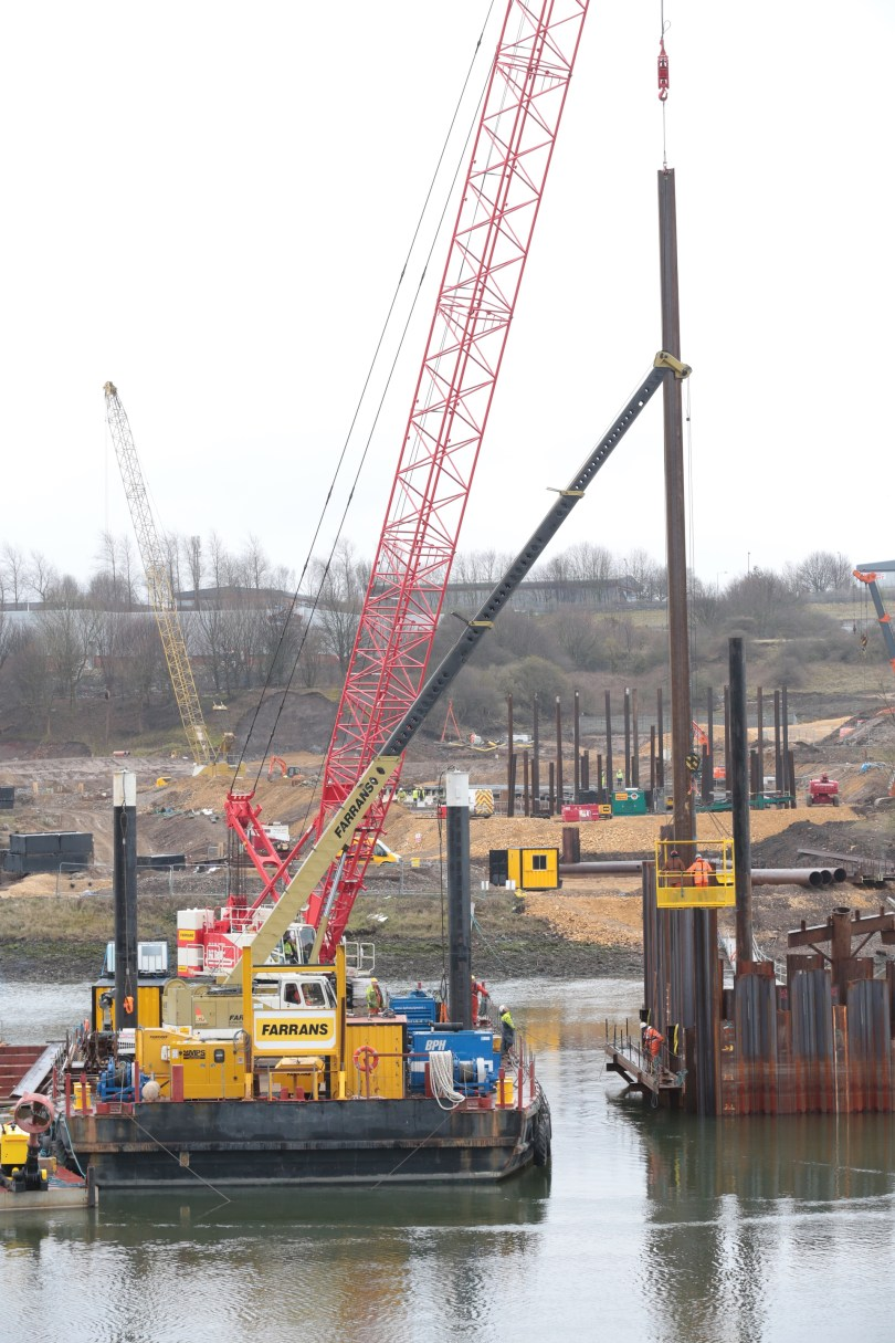 New bridge foundations to start as cofferdam near completion
