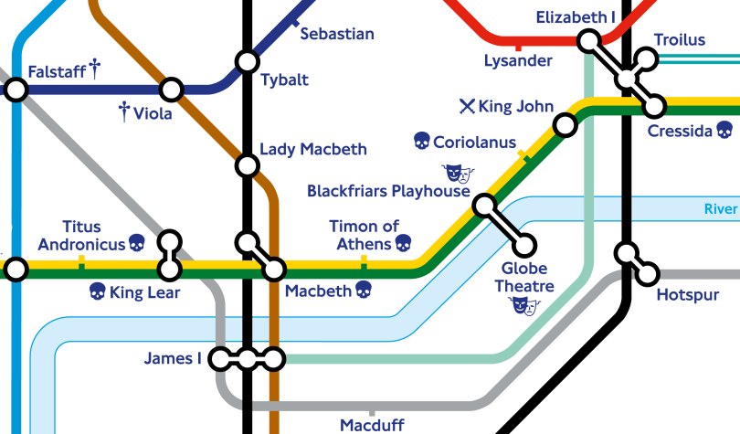 """When in one line two crafts directly meet"" - TfL partners with Shakespeare's Globe to release special Shakespearian Tube map"