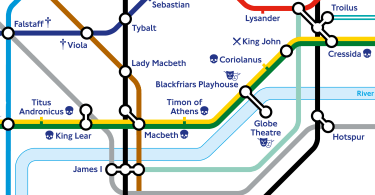 """""""When in one line two crafts directly meet"""" - TfL partners with Shakespeare's Globe to release special Shakespearian Tube map"""