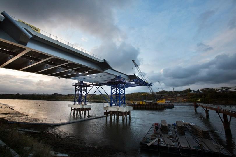 Sunderland's new bridge clocks up half a million man hours so far.