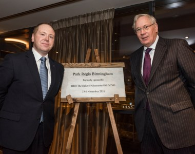 Royal opening for Europe's first Park Regis Hotel