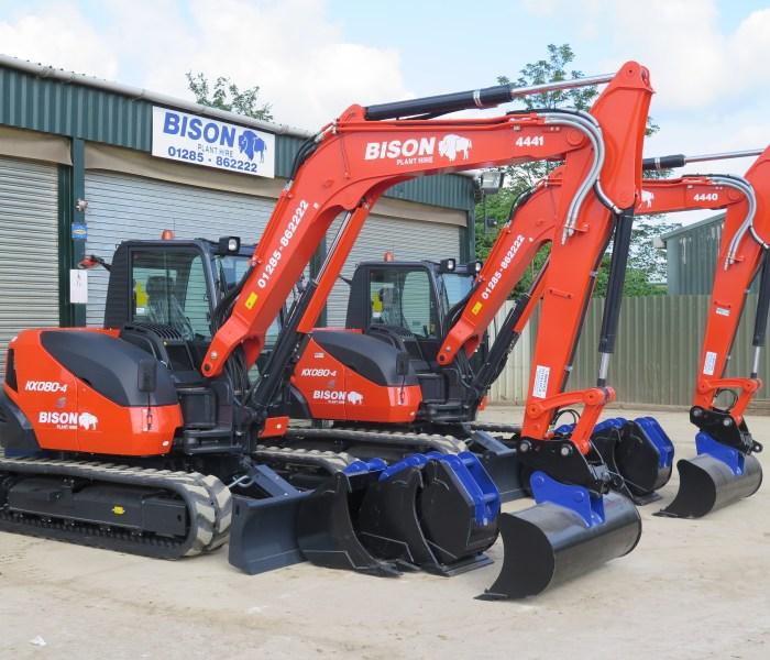 Bison Plant Hire add eight new Kubota machines.