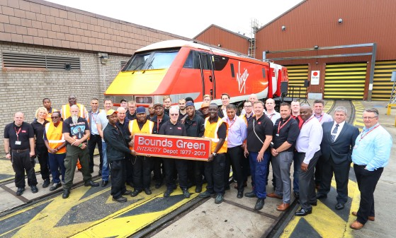 Virgin Trains Class 91 Named to Mark 40 Years of High Speed Trains at Bounds Green
