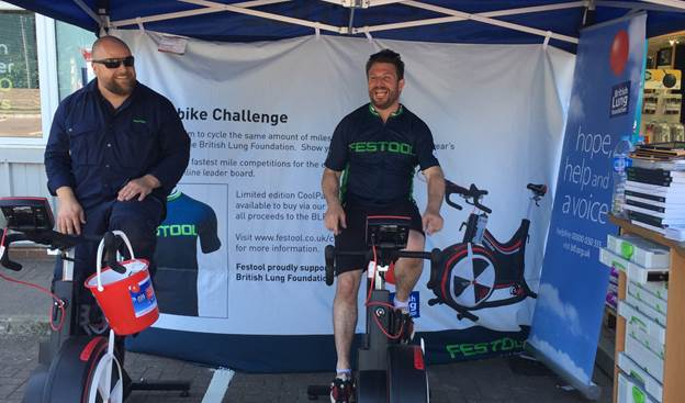 Festool Has a Successful Roadshow Thanks to Pedal Power