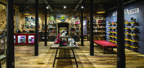 Dr martens camden premier construction news for Industrial design news