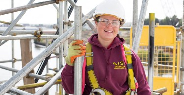 Scaffolder Claudia Is Climbing The Ladder To A Great Career