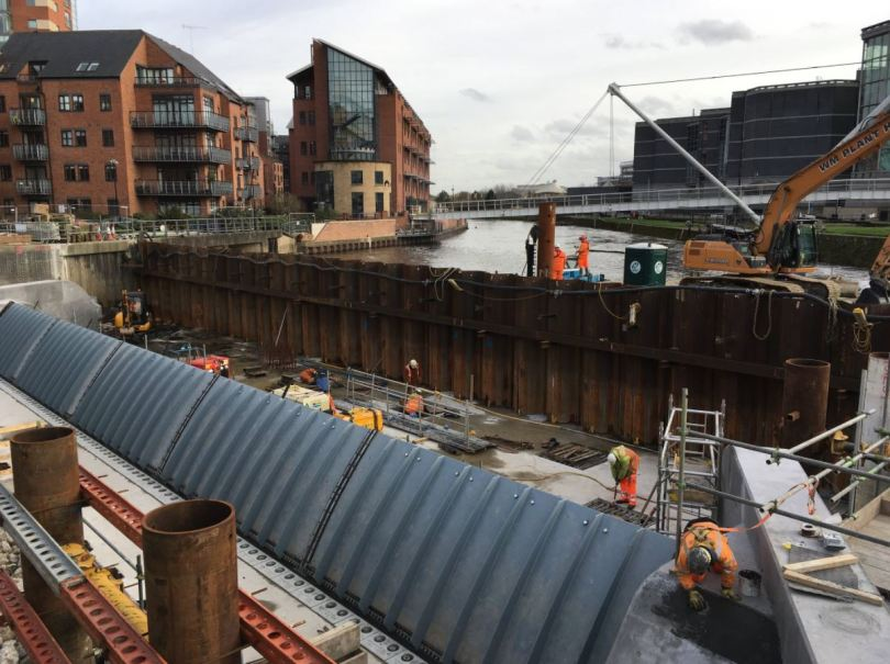 £50 Million State-Of-The-Art Flood Defence Scheme Opens In Leeds