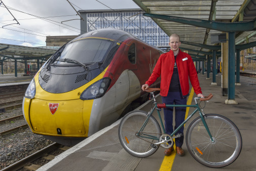 Virgin Trains Station Announcer Pedals Past Fundraising Target for Charity Bike Ride