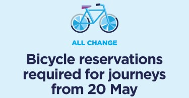 Remember to Book Your Bike From Sunday 20 May