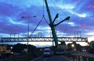 Giant 40-Metre-Wide structure to Help Improve Journeys on M6