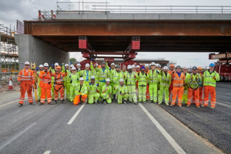 UK's Biggest Road Upgrade Reaches Half-Way Point