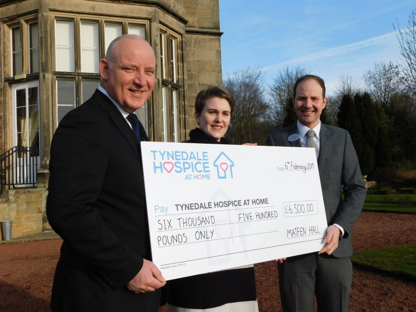 Tynedale Hospice At Home Receives £6,500 Fundraising Boost from Northumberland Hotel