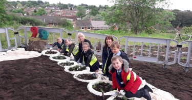 Blurton Children Create Church Garden to Celebrate World Environment Day