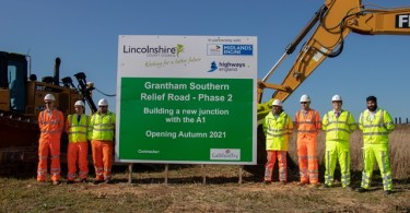 Ground Broken for Next Phase of Works of Grantham Southern Relief Road