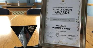 Dudley's Aluminium Win Overall Partner Award at Willmott Dixon Wales Supply Chain Awards