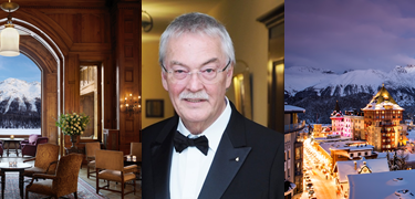 AEHL Lifetime Achievement Award for Hans Wiedemann Delegate of the Board at Badrutt's Palace, St. Moritz