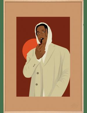 ASAP Rocky Brown art print. Première Base