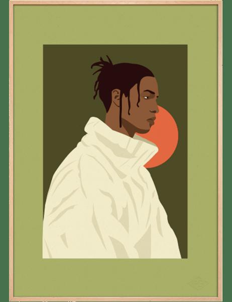 ASAP Rocky Green art print. Première Base