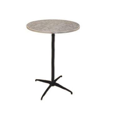 brushed aluminum round cocktail table 30