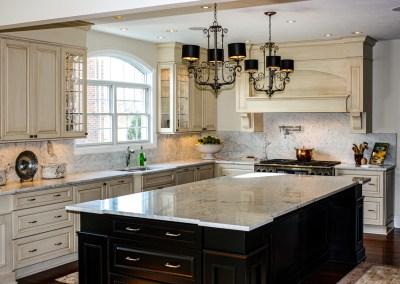 White Carrara Marble Kitchen Countertops