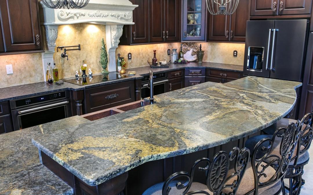 Blue Cairo Leathered Granite Countertops