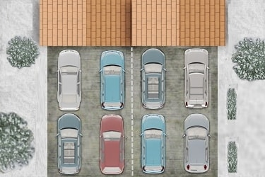 Double Car Shared Driveway