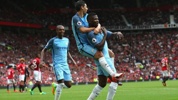 Image result for pic of iheanacho scoring against man united 10th september 2016
