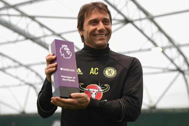 Image result for antonio conte october manager of the month