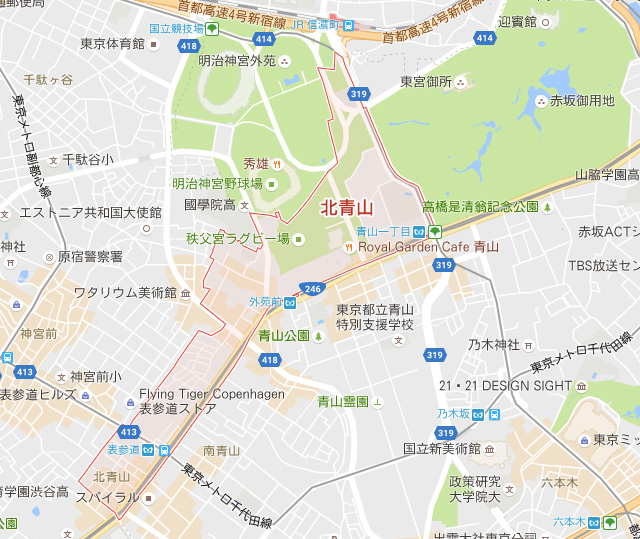 地図:北青山