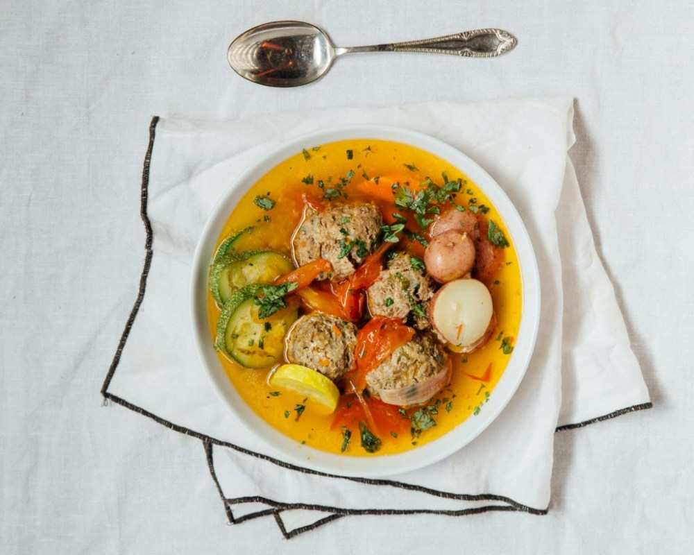 Cozy up this winter with a warm meatball soup of fresh never frozen beef and lamb--Full Recipe!