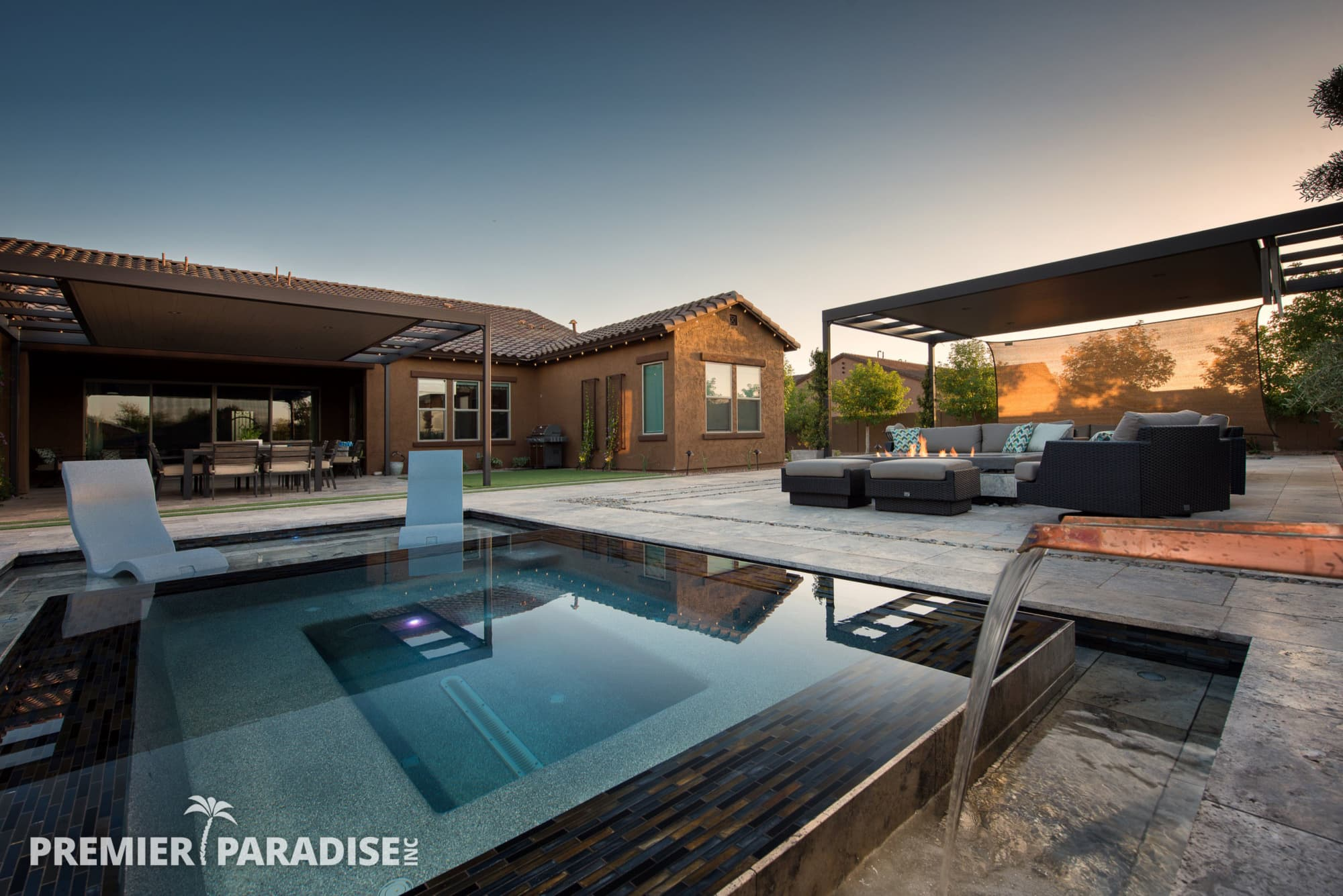 Modern Perimeter Overflow Spa & Luxury Outdoor Living ... on Outdoor Living Spa id=86924