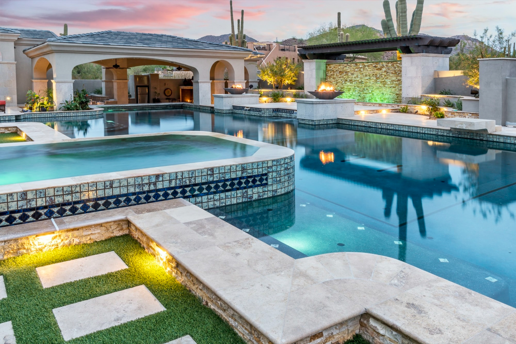 Luxury Pool and Estate Outdoor Living Space | Mesa Arizona ... on Outdoor Living Space Builders Near Me  id=75587
