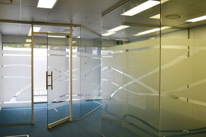 3 Dental Office Etched Window Graphics