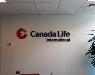 Canada Life Reception Signage