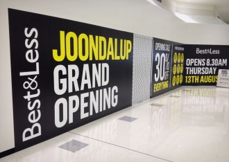 Advertising Hoarding on DiBond