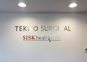 Tekno Surgical and SISK Healthcare - Stainless Still Lettering