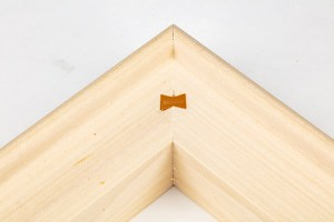 Heavy duty stretcher bars joined by dovetail key.