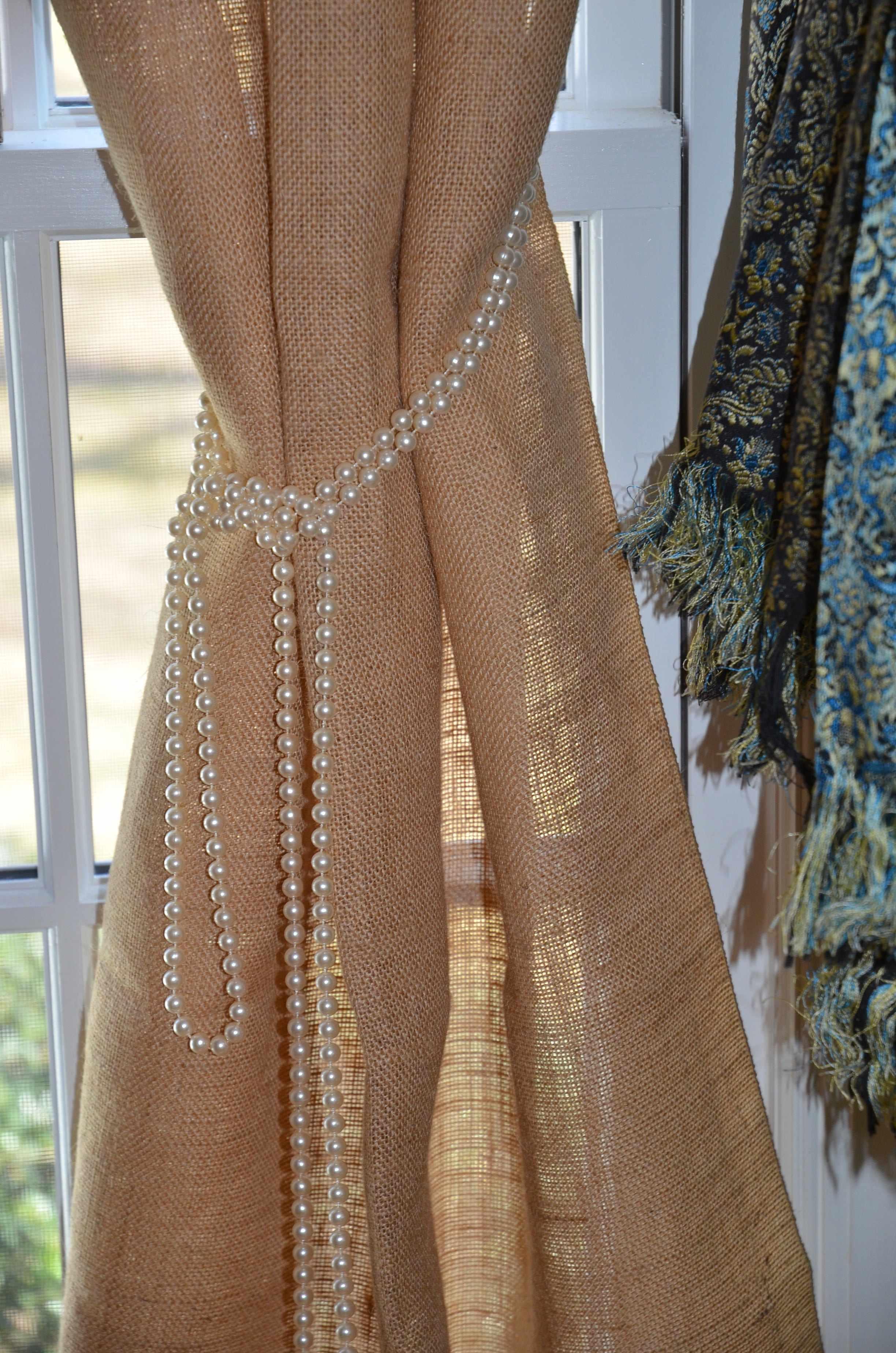 burlap curtains creative ideas for