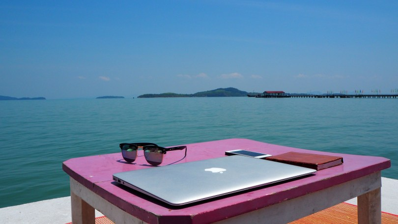 Beach office 1024x576 - Your Path to Becoming a TEFL Digital Nomad