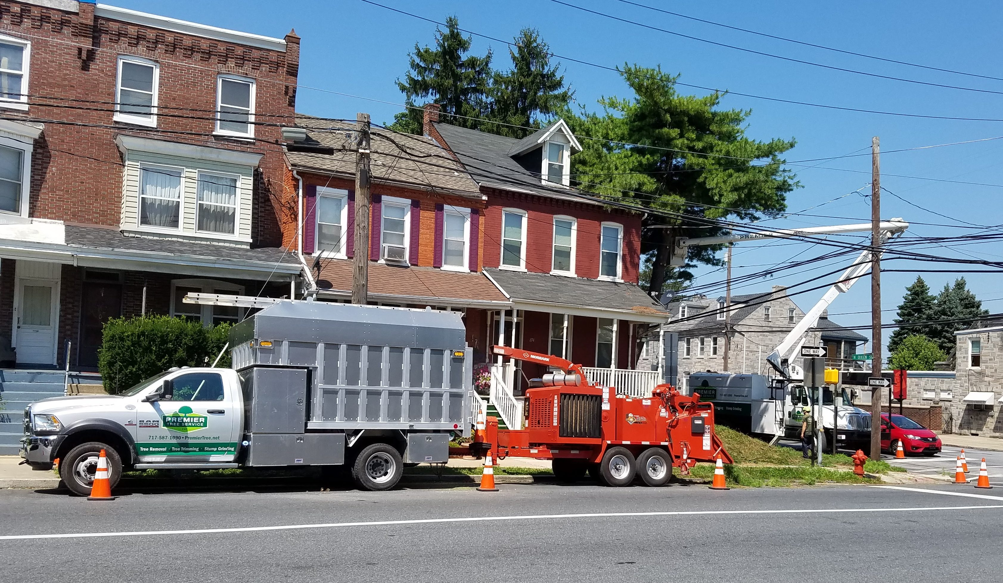 We have the equipment to safely trim or remove trees in towns. Buildings and powerlines? No problem.