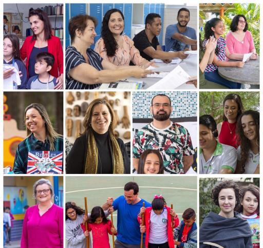 Montagem de fotos dos 10 vencedores do Prêmio Educador Nota 10 - 2019.