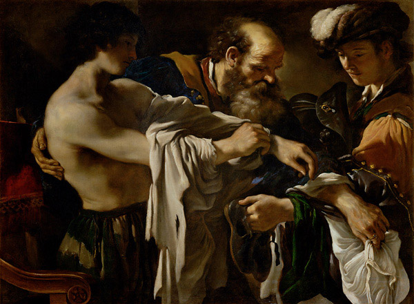 Il ritorno del figliol prodigo del Guercino 1619