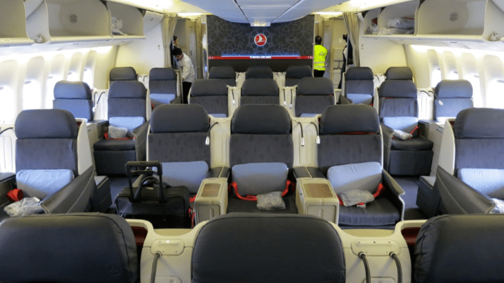 Turkish Airlines B777-300ER Business Class (Photo by TravelSkills)