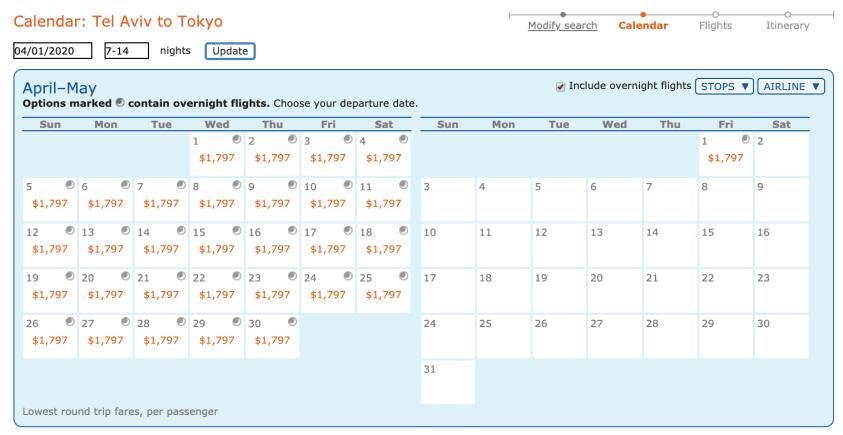 Flights to Tokyo