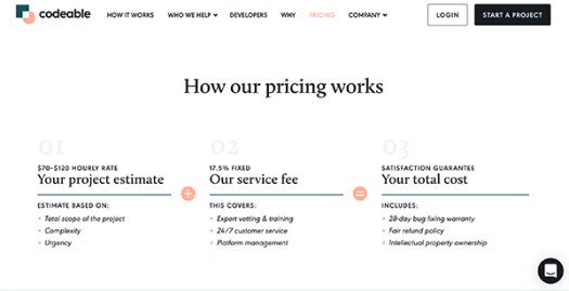 Codeable Pricing