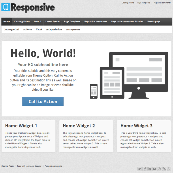 Responsive: A Simple Free WordPress Theme with Extras ...