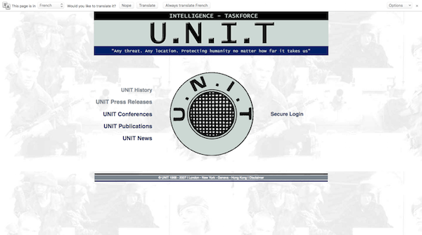 Scary Website - Doctor Who UNIT